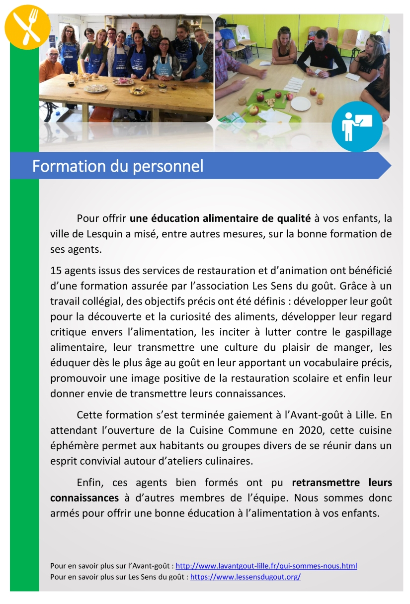 article formation du personnel