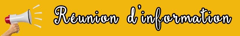 affiche banderole réunion d'information